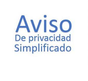 Aviso de Privacidad Simplificado
